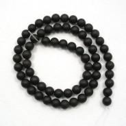 Black Stone (Matte) 6mm Round Beads