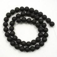Black Stone (Matte) 8mm Round Beads