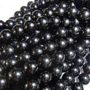 Black Tourmaline 12mm Round Beads