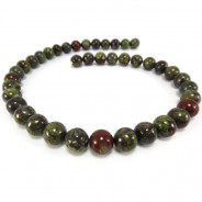 Bloodstone 10mm Round Beads