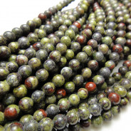 Bloodstone 4mm Round Beads