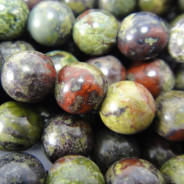 Dragon Blood Jasper 6mm Round Beads