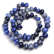 Blue Aventurine 8x12mm Centre Drilled Nuggets Beads