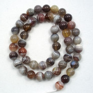 Botswana Agate 8mm Round Beads