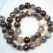 Botswana Agate 10mm Coin Beads