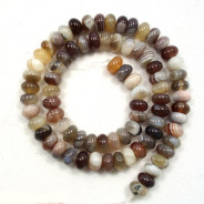 Botswana Agate 8x5mm Rondelle Beads