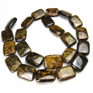 Bronzite 13x18mm Puffy Rectangle Beads