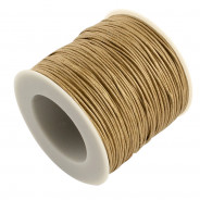 Burlywood Waxed Cotton Cord 1mm 90M Roll
