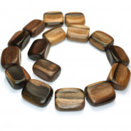 Kamagong (Tiger Ebony) Rounded Rectangle Wood Beads