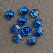 Swarovski® 4mm Capri Blue Bicone Xilion Cut Beads (Pack of 10)