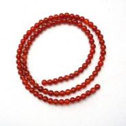 Carnelian 4mm Round Beads