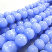 Cats Eye Light Blue 8mm Round Beads