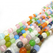 Cats Eye Multicolour 4mm Round Beads