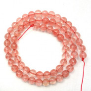 Cherry Quartz 6mm Round Beads
