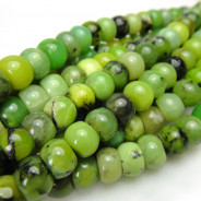 Chrysoprase 4x6mm Rondelle Beads
