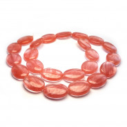 Cherry Quartz 13x18mm Oval Beads