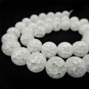 Cracked Glass 10mm Round Beads