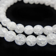 Cracked Glass 6mm Round Beads
