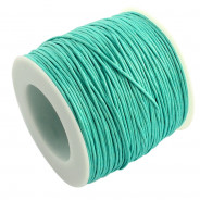 Aquamarine Waxed Cotton Cord 1mm 90M Roll