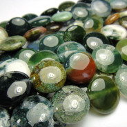 Fancy Jasper 14mm Coin Beads