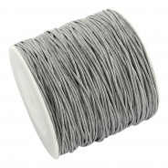 Light Grey Waxed Cotton Cord 1mm 90M Roll