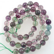 Fluorite 8mm Round Beads