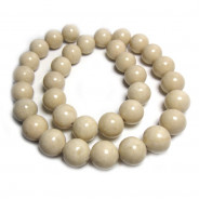 Fossil Stone 12mm Round Beads