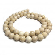 Fossil Stone 8mm Round Beads