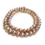 Natural Freshwater Potato Pearl Lilac 6-7mm Beads
