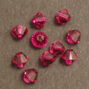 Swarovski® 4mm Fucsha Bicone Xilion Cut Beads (Pack of 10)