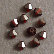 Swarovski® 4mm Garnet Bicone Xilion Cut Beads (Pack of 10)
