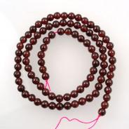 Garnet 4mm Round Beads