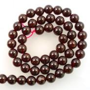 Garnet 8mm Round Beads