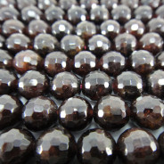 Garnet 8mm Faceted Round Beads