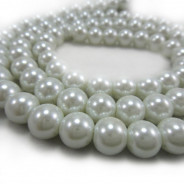 GLASS PEARLS 10MM ROUND BEADS