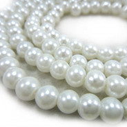Glass Pearls 6mm Round Beads