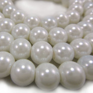 GLASS PEARLS 8MM ROUND BEADS