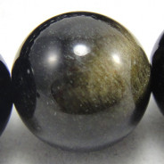 Golden Rainbow Obsidian 10mm Round Beads