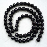 Blue Goldstone 6mm Round Beads