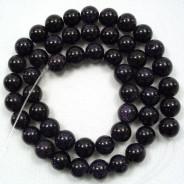 Blue Goldstone 8mm Round Beads