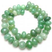 Green Aventurine Centre Drilled Nugget Beads