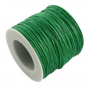 Green Waxed Cotton Cord 1mm 90M Roll