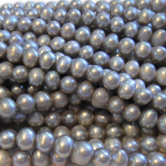 Natural Freshwater Potato Pearl Grey 6-7mm Beads