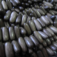 Greywood Oval 8x19mm Wood Beads (Side Drilled)