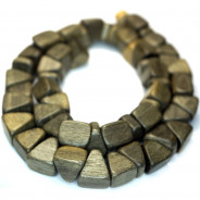 Greywood Triangle Nugget Wood Beads