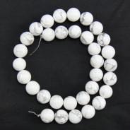 Howlite 12mm Round Beads