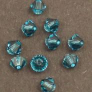 Swarovski® 4mm Indicolite Bicone Xilion Cut Beads (Pack of 10)