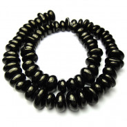 Jet 6-10mm Nugget Beads