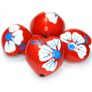Kukui Nut Red With Flower (Pack 4)