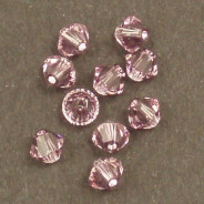 Swarovski® 4mm Light Amethyst Bicone Xilion Cut Beads (Pack of 10)